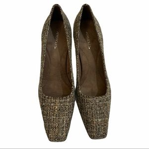Aerosoles Envy woven shimmer heels